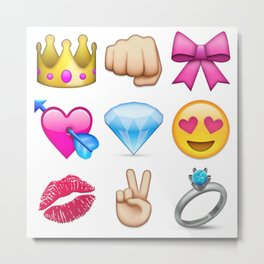 Girly Emoji Compilation  Metal Print