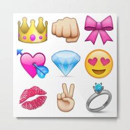 Girly Emoji Compilation  Metal Print