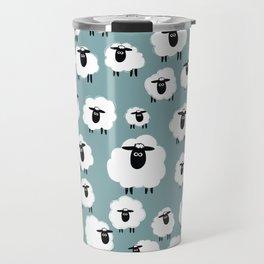 Counting Sheep III: Multiple Sheep Travel Mug