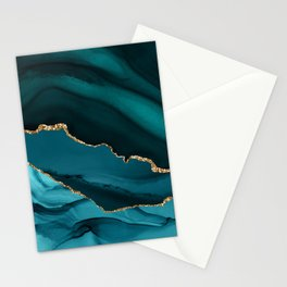 Beautiful Teal Desert Pattern Stationery Cards
