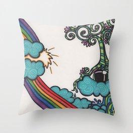 natural gold Throw Pillow