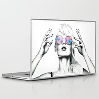 iggy azalea Laptop & iPad Skins featuring Iggy Azalea 2 by Tiffany Taimoorazy