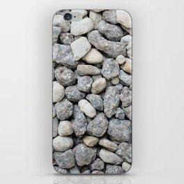 White and grey roadstone iPhone Skin
