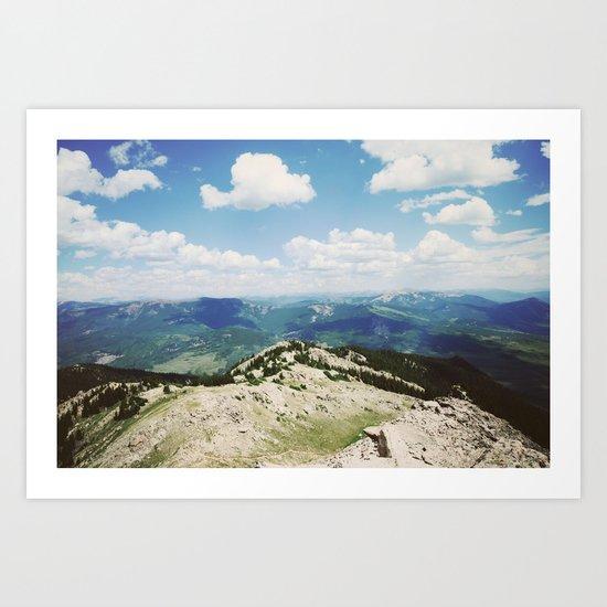 Mountains & Clouds Art Print