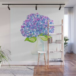 Blue Hydrangea Wall Mural