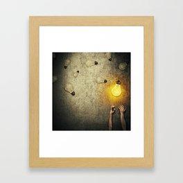 light bulbs juggling Framed Art Print