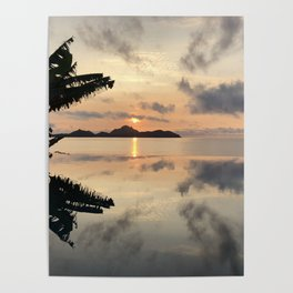 Sunset over Water Poster