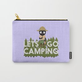 Camping Cat in Park Ranger uniform Carry-All Pouch