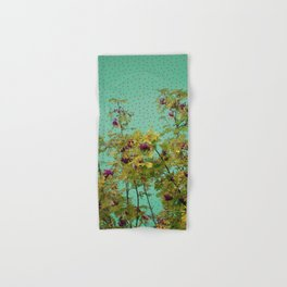 Rowan tree and purple polka dots Hand & Bath Towel