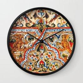old motives / colorful / Armenian  Wall Clock