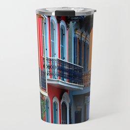 Colorful French Quarter Row Homes Travel Mug