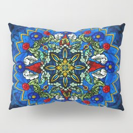 Lighted Rose Window Collage Pillow Sham