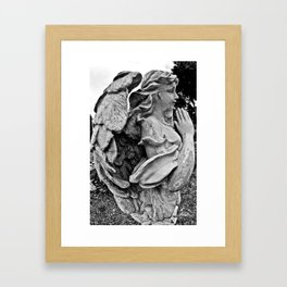 Angel profile Framed Art Print