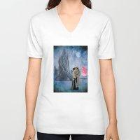 saga V-neck T-shirts featuring Saga by Rob O'Connor