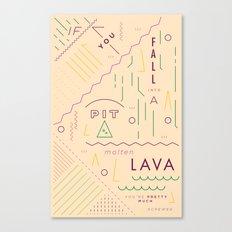 Haikuglyphics - On Lava Canvas Print