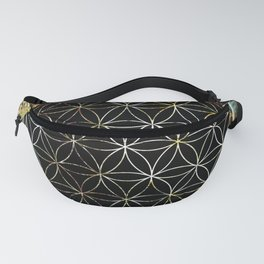 Flower of Life and Zodiac in Cosmic Space Fanny Pack