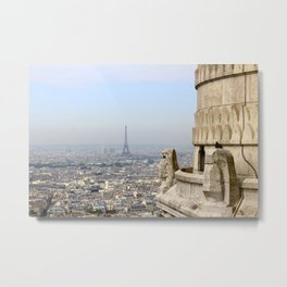 Eiffel Tower From Montmartre II Metal Print