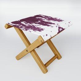 Velvet Kumo Shibori Plum Folding Stool