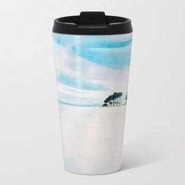 Pristine Florida Watercolor Metal Travel Mug