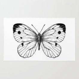 Cabbage butterfly Rug