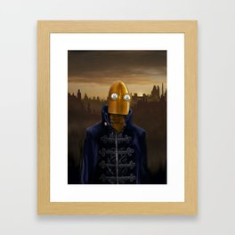 Steampunk Robot Framed Art Print