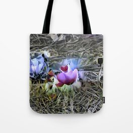 Church with Flowers Tote Bag