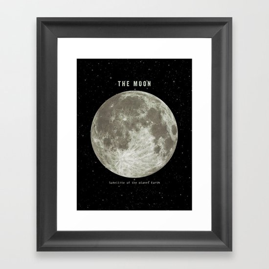 The Moon  Framed Art Print