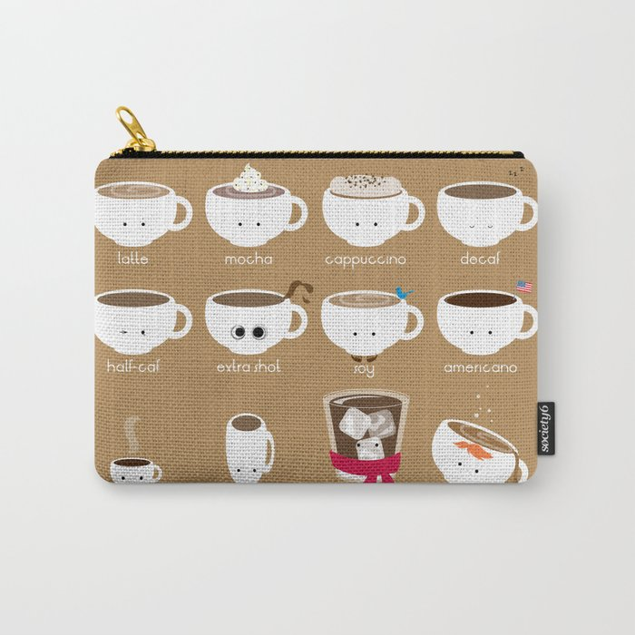 Know Your Coffees Carry-All Pouch