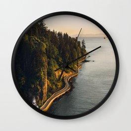 A Curvy Park - Vancouver, British Columbia, Canada Wall Clock