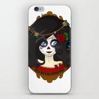dia de los muertos iPhone & iPod Skins featuring Dia de Los Muertos by Lilolilosa