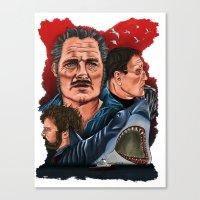jaws Canvas Prints featuring JAWS by David Amblard