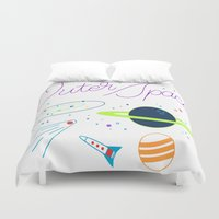outer space Duvet Covers featuring Outer Space! by Conscious Transmitter