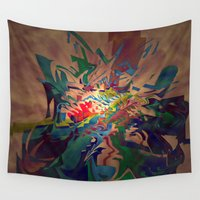 chaos Wall Tapestries featuring Chaos by lillianhibiscus