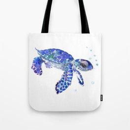 Cute Blue Baby Sea Turtle. children illustration, turtle art Tote Bag
