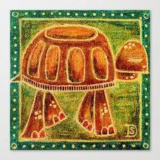 Desert Tortoise Oil Pastel Canvas Print