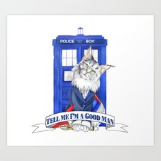 Doctor Mew 12th Doctor Art Print