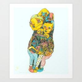 Kalli's Feet Art Print