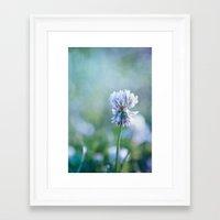 clover Framed Art Prints featuring clover by Iris Lehnhardt