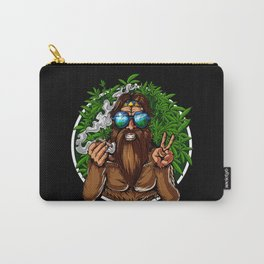 Bigfoot Hippie Smoking Weed Carry-All Pouch
