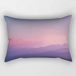 Stunning sunset mountain view Rectangular Pillow