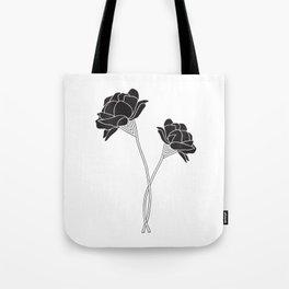 Flower Stems Tote Bag