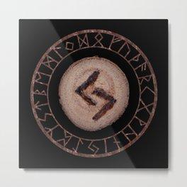 Jera - Elder Futhark rune Metal Print