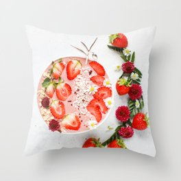 strawberry smoothie #society6 #decor #buyart Throw Pillow