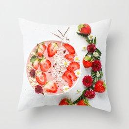 strawberry smoothie #society6 #decor #buyart Throw Pillow