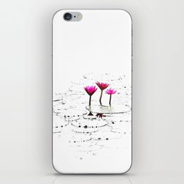 Lotus illustration iPhone Skin