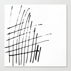 Grid Sketch Black and White Canvas Print