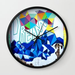 """DREAM"" / 41 Fleet St Wall Clock"