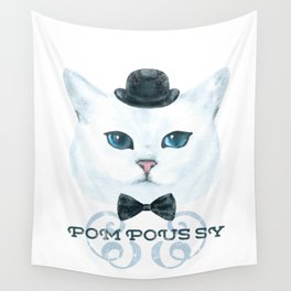 Pompous Pussy Hat Wall Tapestry