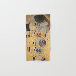 Gustav Klimt, The Kiss (Lovers), Detail Embrace, 1908 - Reproduction under Belvedere, Vienna, Creative Commons License CC BY-SA 4.0 Hand & Bath Towel
