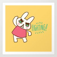 Fighting! Art Print